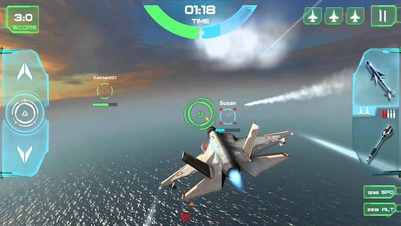 Retour au début 5 des meilleurs jeux d'Android de combat aérien - Image 5 - Professor-falken.com