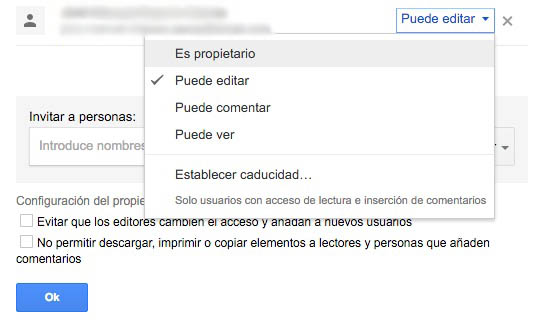 Πώς να αλλάξετε de ιδιοκτήτης του ΟΗΕ documento en Google Drive - Εικόνα 4 - Professor-falken.com