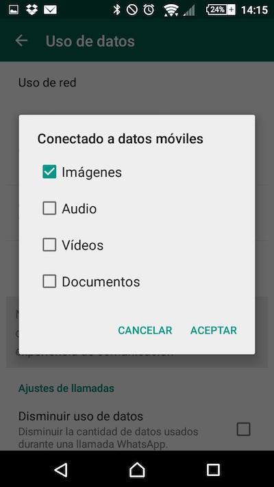 Come configurare WhatsApp download evitando consumo dei vostri dati di tasso - Immagine 4 - Professor-falken.com