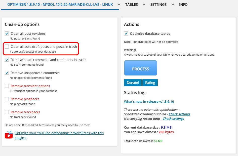 Como facilmente otimizar seu banco de dados do WordPress - Imagem 3 - Professor falken