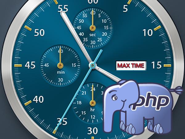 Como corrigir o erro de tempo de execução máximo ' tempo de execução máximo'  PHP