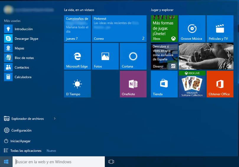 Verwendung die Schnittstelle Windows Metro zurück 8 in Windows 10 - Bild 1 - Prof.-falken.com
