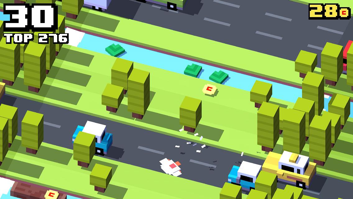 Crossy Road, una versione moderna del gioco della rana che attraversa la strada - Immagine 2 - Professor-falken.com