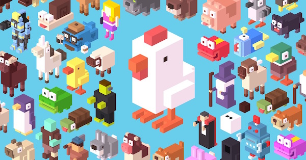 Crossy Road, une version moderne du jeu de la grenouille en traversant la route