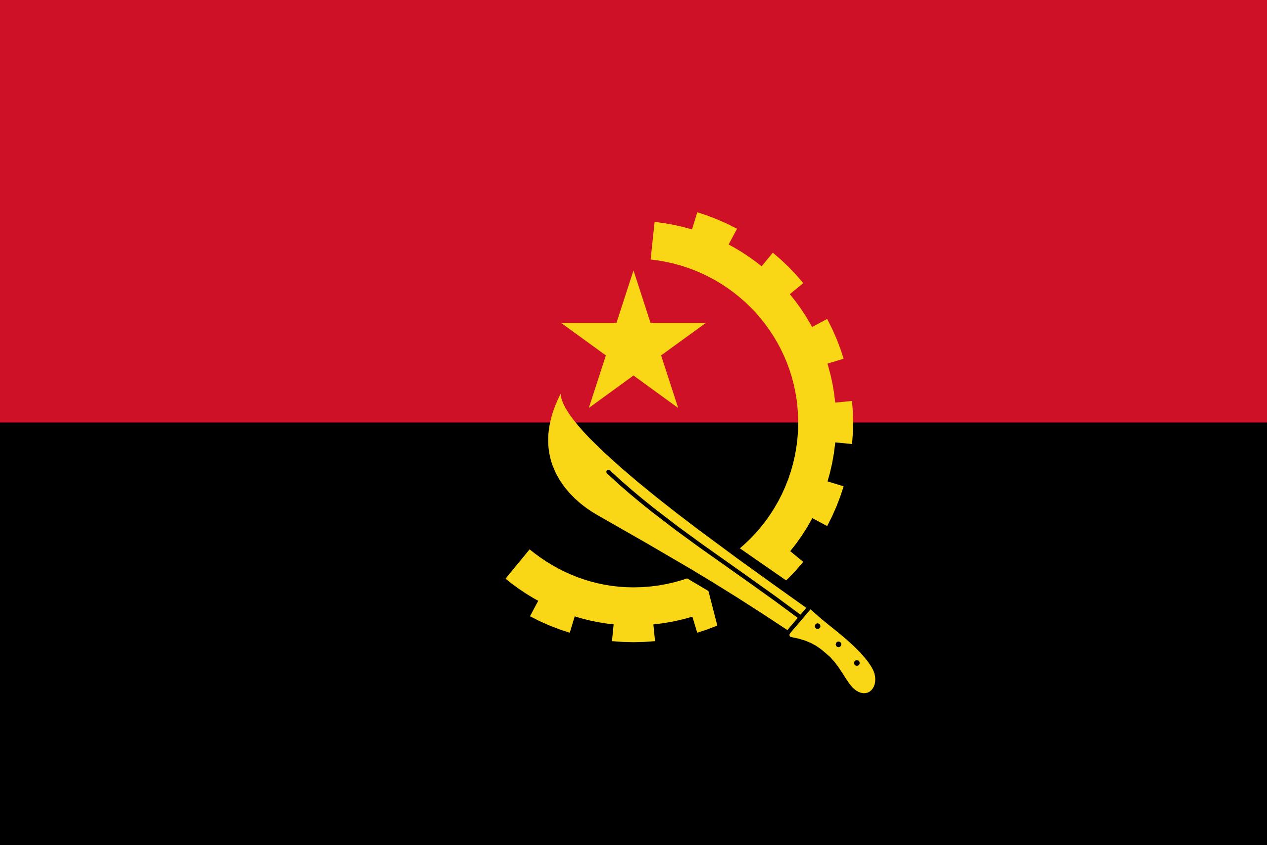Angola, pays, emblème, logo, symbole - Fonds d'écran HD - Professor-falken.com