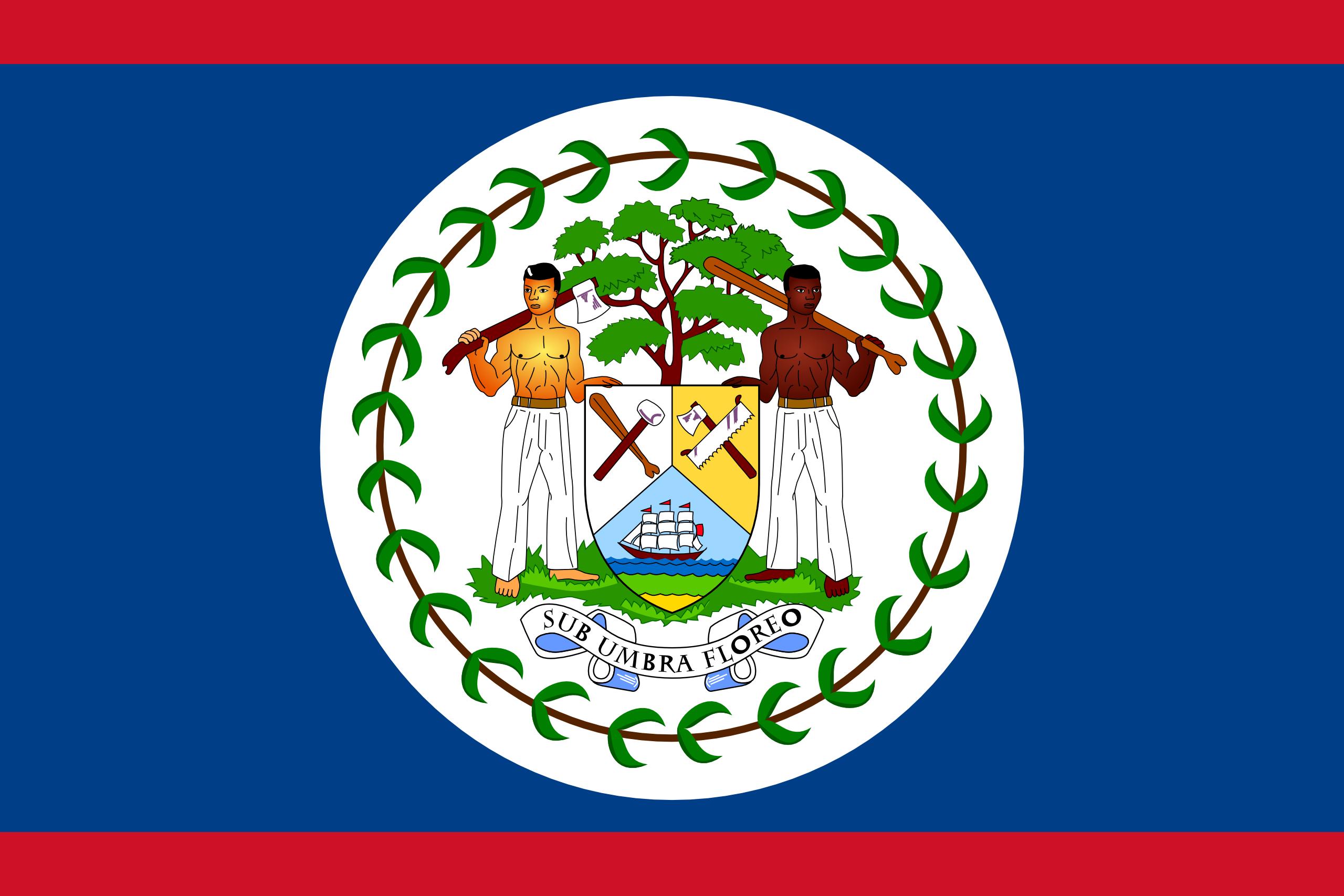 Belize, país, Brasão de armas, logotipo, símbolo - Papéis de parede HD - Professor-falken.com