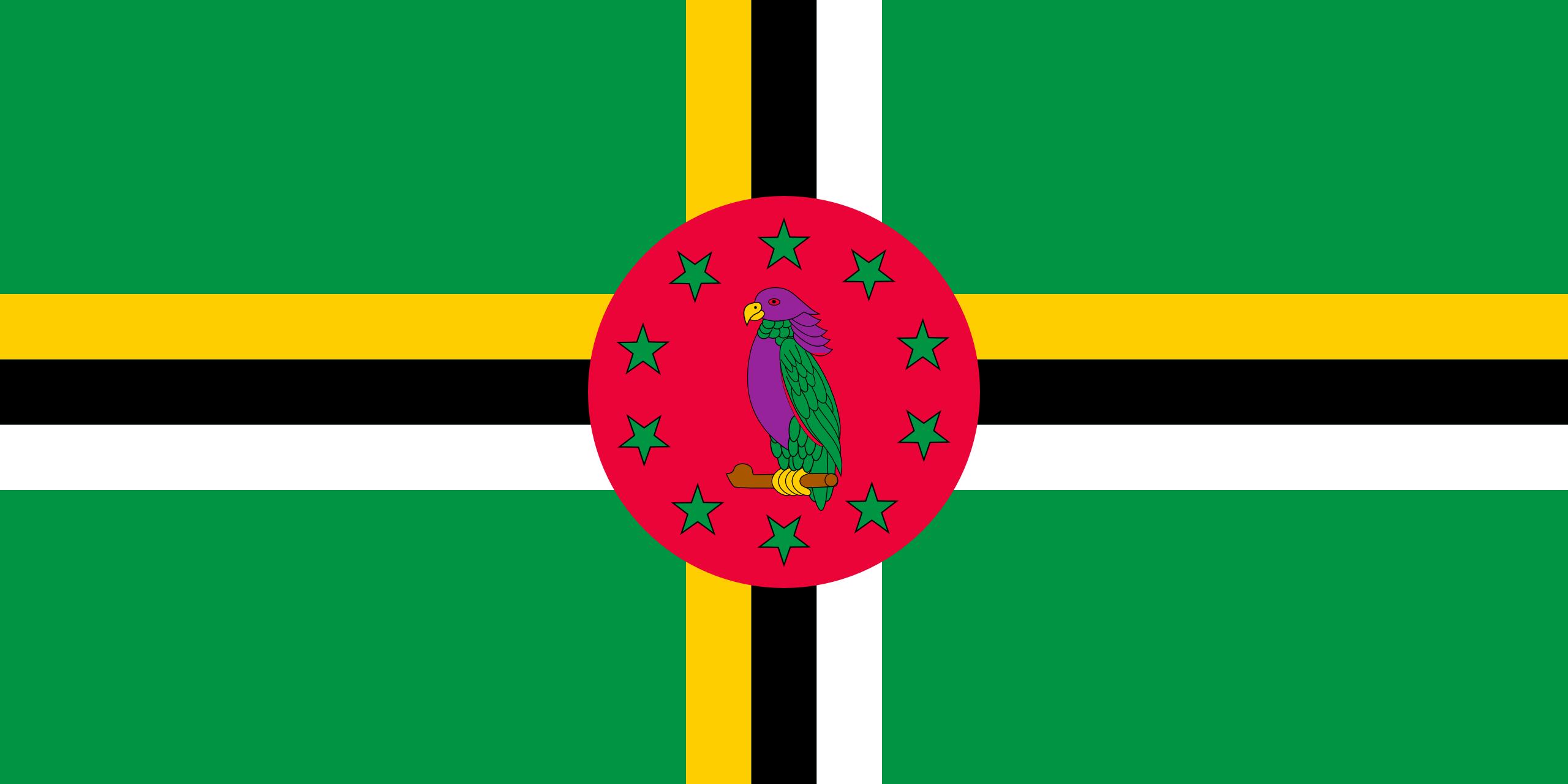 Dominica, país, Brasão de armas, logotipo, símbolo - Papéis de parede HD - Professor-falken.com