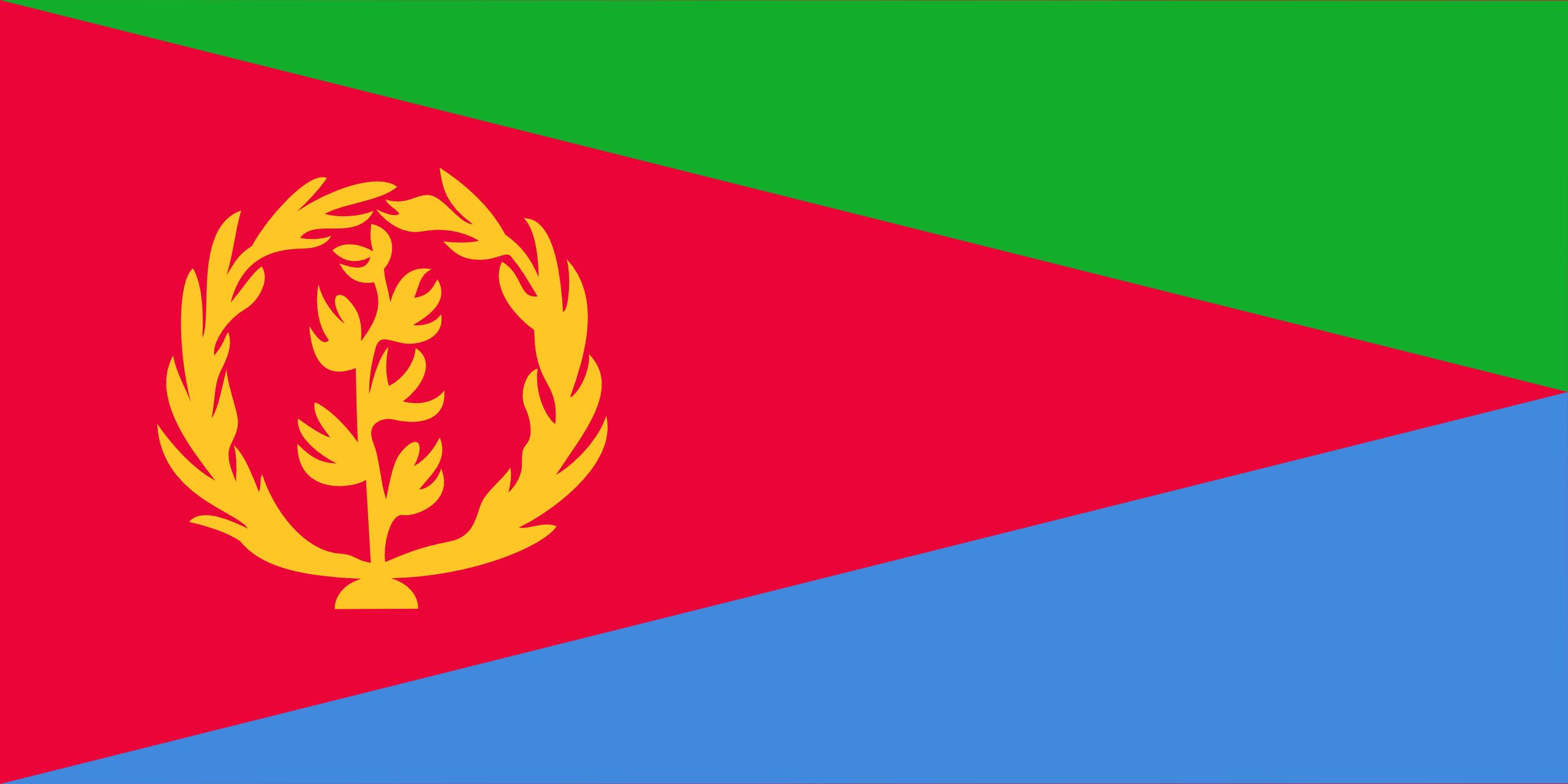 eritrea, país, emblema, insignia, символ - Обои HD - Профессор falken.com