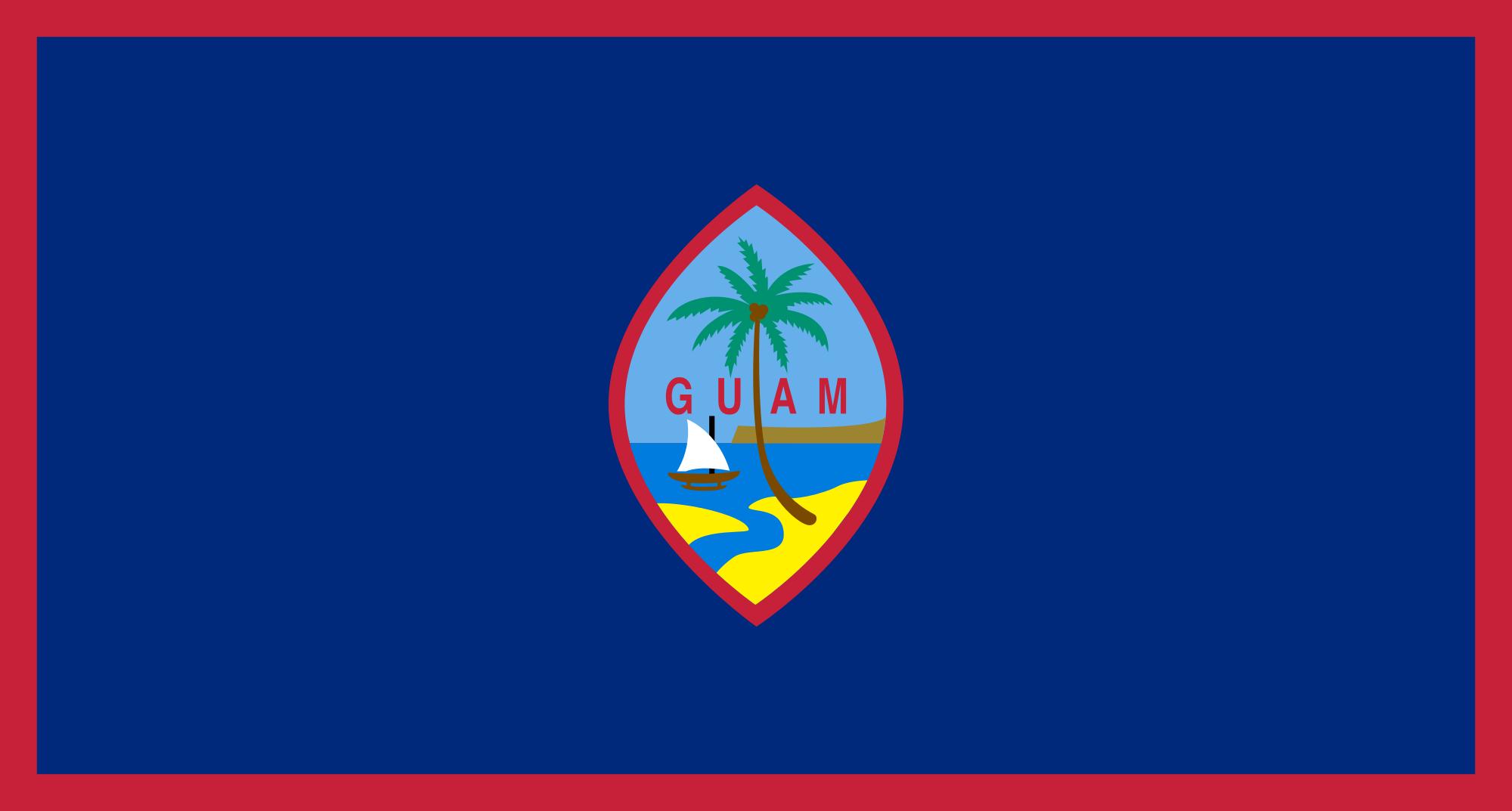 guam, país, emblema, insignia, σύμβολο - Wallpapers HD - Professor-falken.com