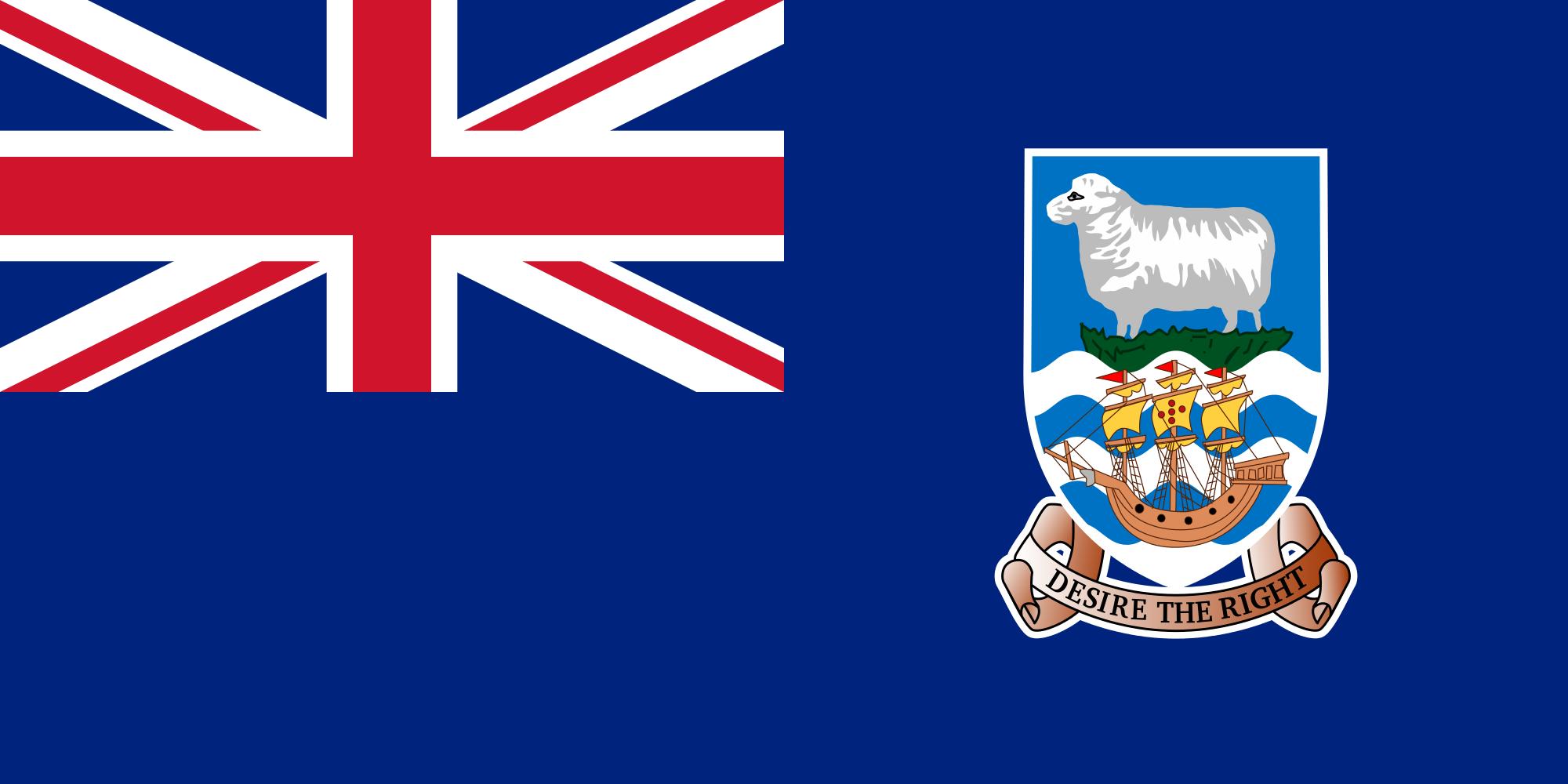 islas malvinas, país, Brasão de armas, logotipo, símbolo - Papéis de parede HD - Professor-falken.com