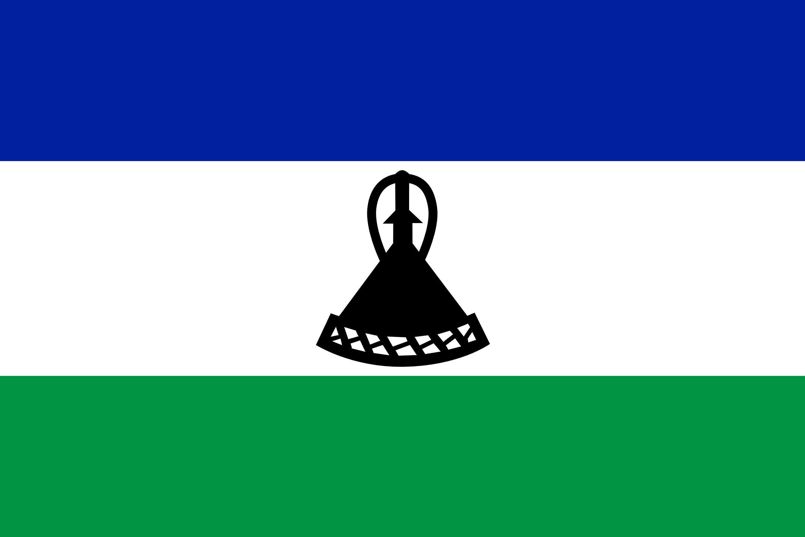 lesoto, país, emblema, insignia, símbolo - Fondos de Pantalla HD - professor-falken.com
