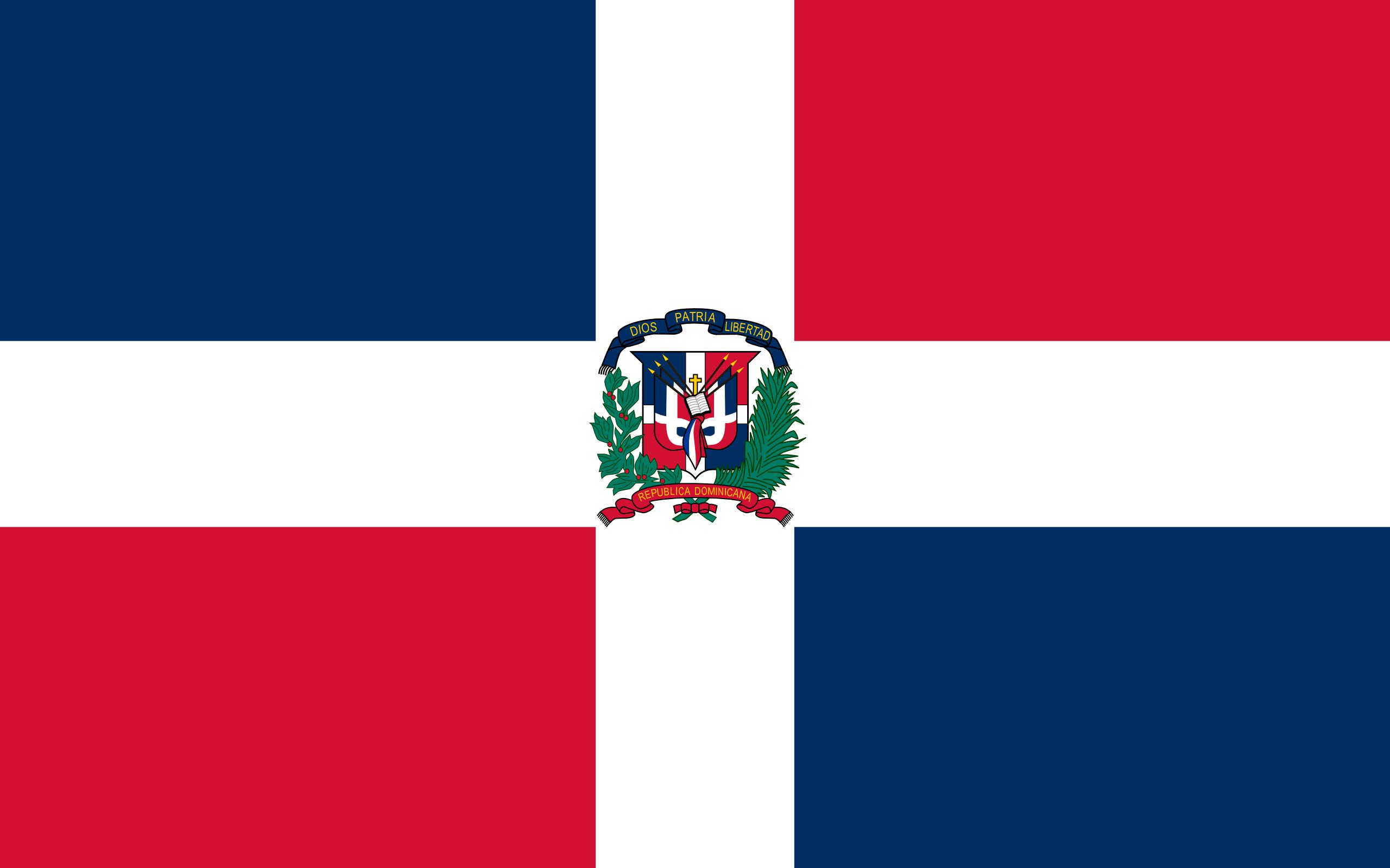 república dominicana, país, Brasão de armas, logotipo, símbolo - Papéis de parede HD - Professor-falken.com