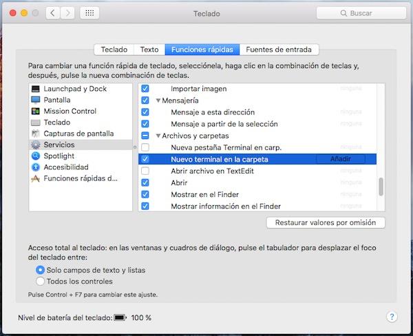 Come aprire una finestra di terminale da qualsiasi cartella sulla vostra tabella di ambiente Mac - Immagine 2 - Professor-falken.com
