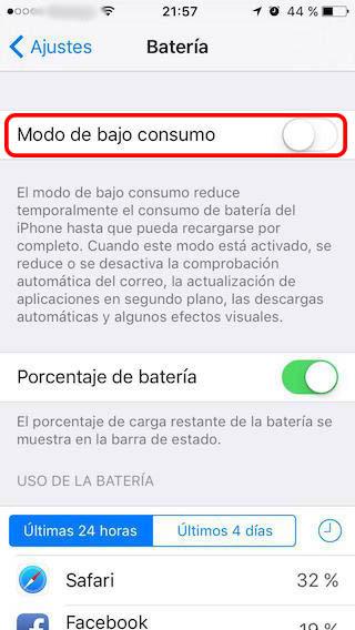 Cómo activar el modo de bajo consumo, para ahorrar batería, en tu iPhone - Image 2 - professor-falken.com