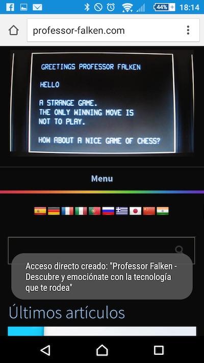 Chrome からあなたの Android 携帯電話のホーム画面に web サイトを追加する方法 - イメージ 3 - 教授-falken.com