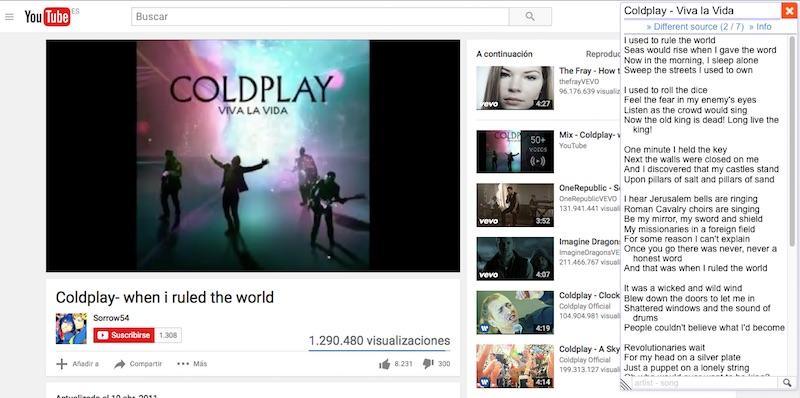 如何把歌曲的歌词在 Youtube 上显示在您的浏览器, Last.FM, Spotify,和更多 - 图像 3 - 教授-falken.com