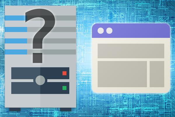 サーバーの種類を知る方法は、Web サイトを使用しています。