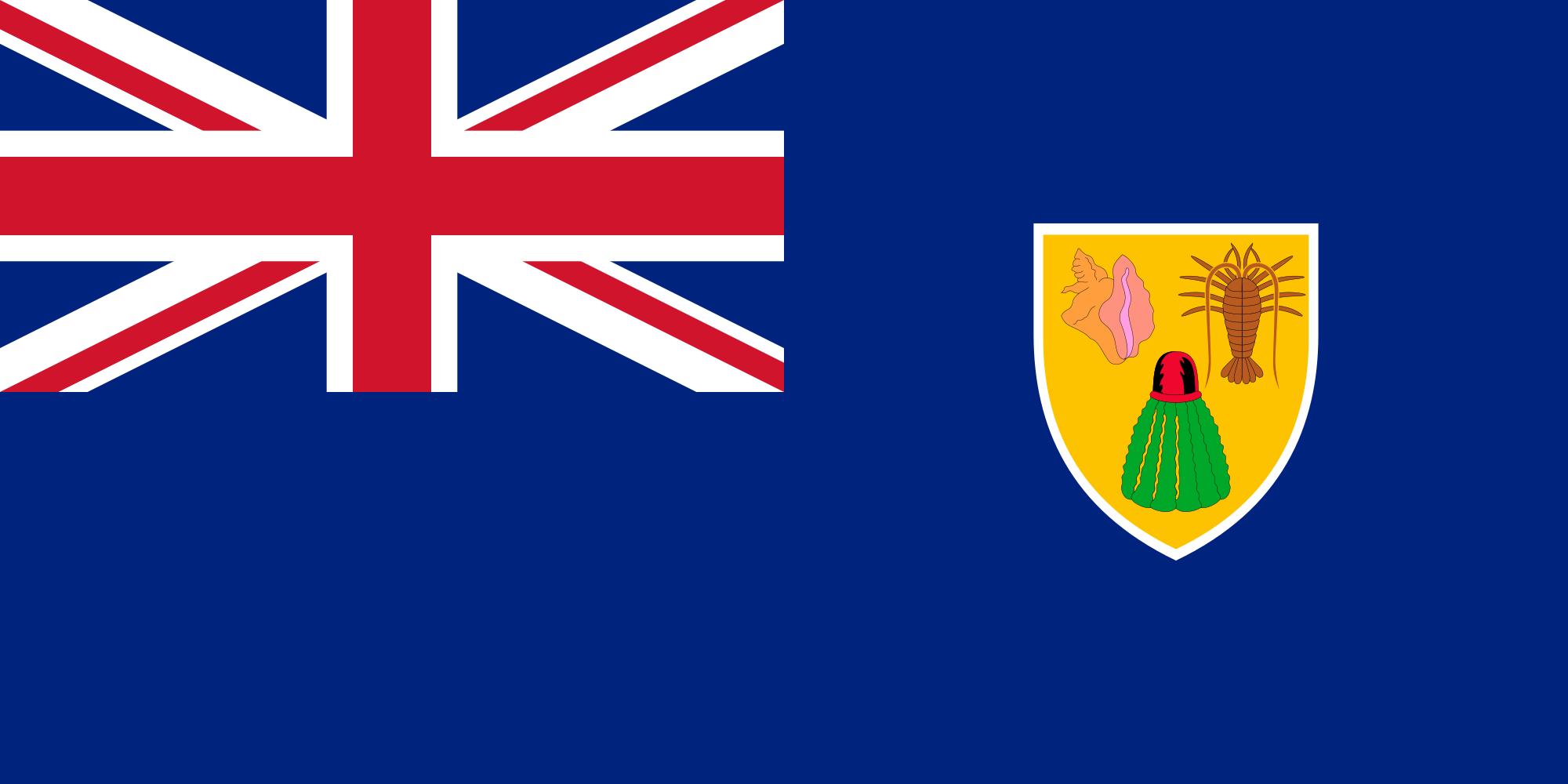 islas turcas y caicos, país, emblema, insignia, символ - Обои HD - Профессор falken.com
