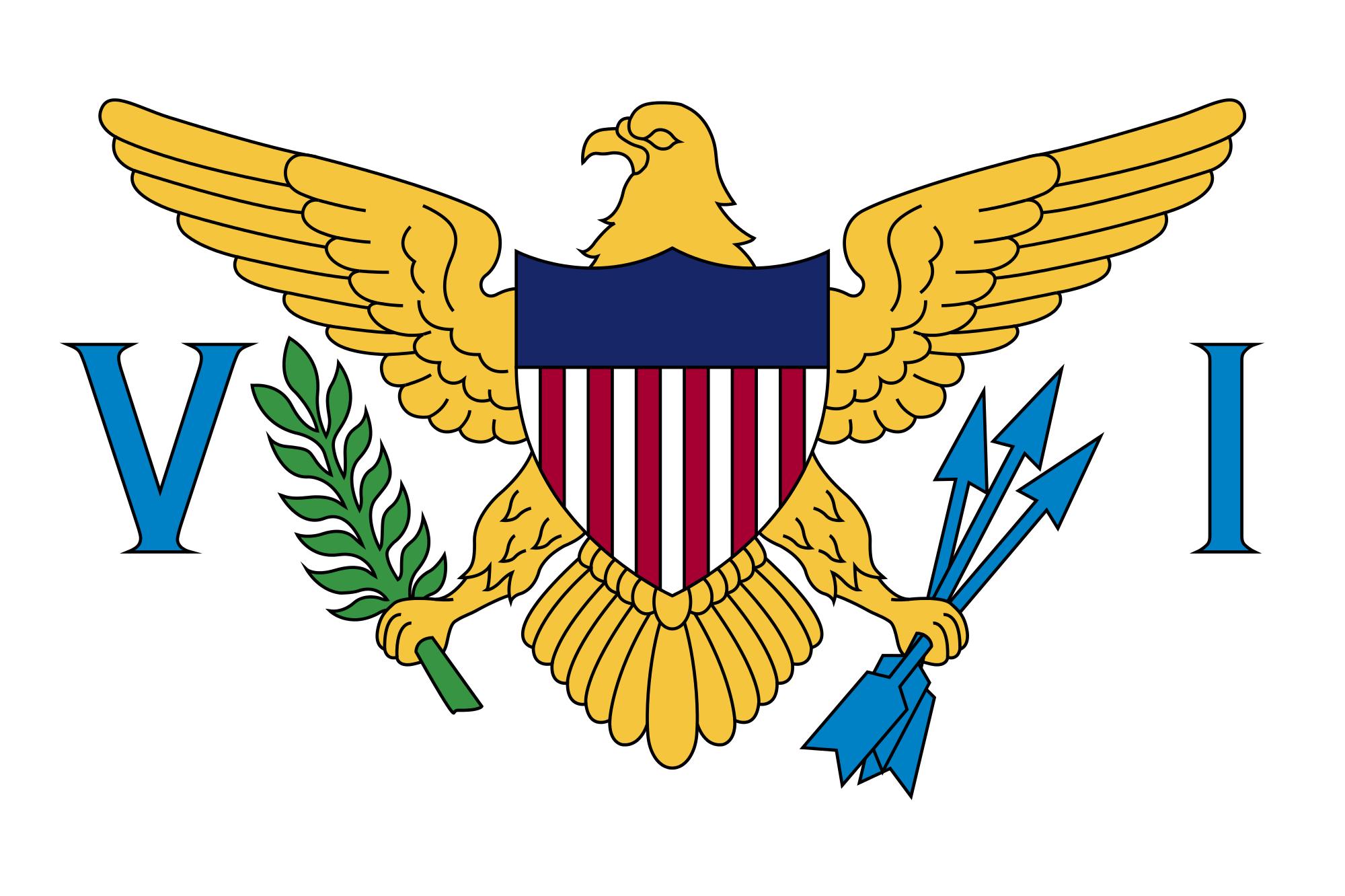 islas virgenes estadounidenses, país, Brasão de armas, logotipo, símbolo - Papéis de parede HD - Professor-falken.com