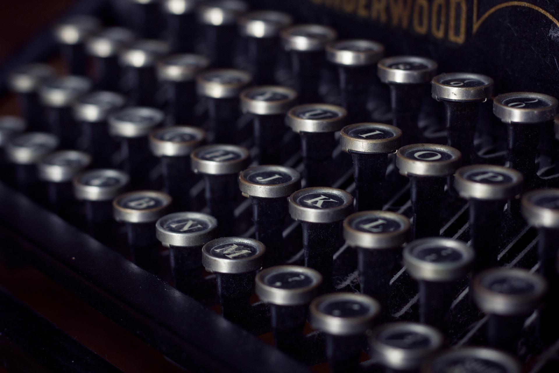 タイプライター, ヴィンテージ, 古い, キー - HD の壁紙 - 教授-falken.com