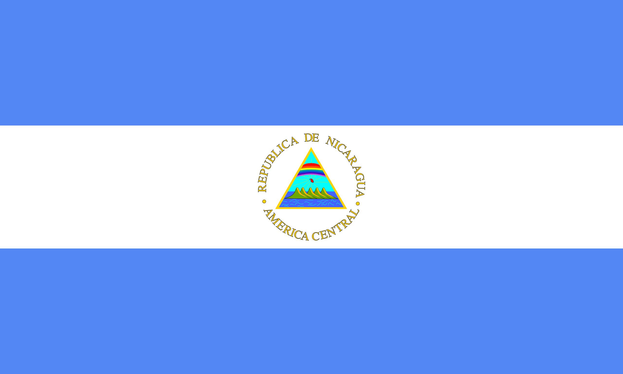 nicaragua, pays, emblème, logo, symbole - Fonds d'écran HD - Professor-falken.com