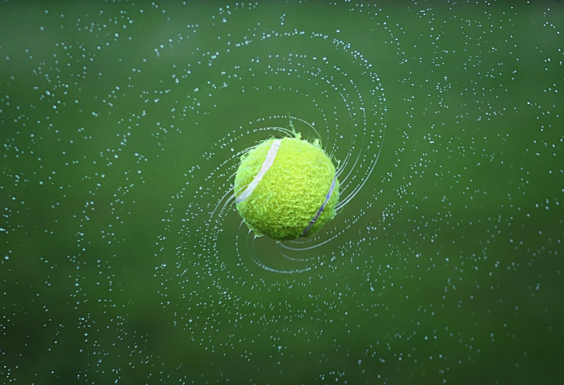 palla da tennis, palla, Campo da tennis, acqua, Giro, Verde - Sfondi per desktop - Professor-falken.com