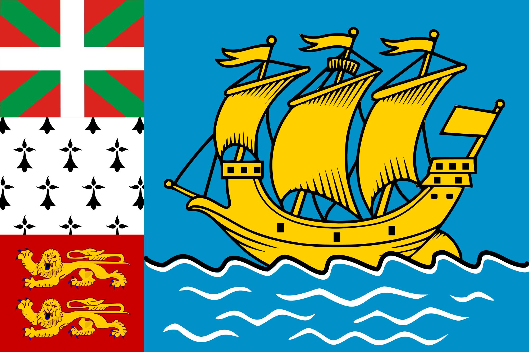 san pedro y miquelón, país, emblema, insignia, प्रतीक - HD वॉलपेपर - प्रोफेसर-falken.com