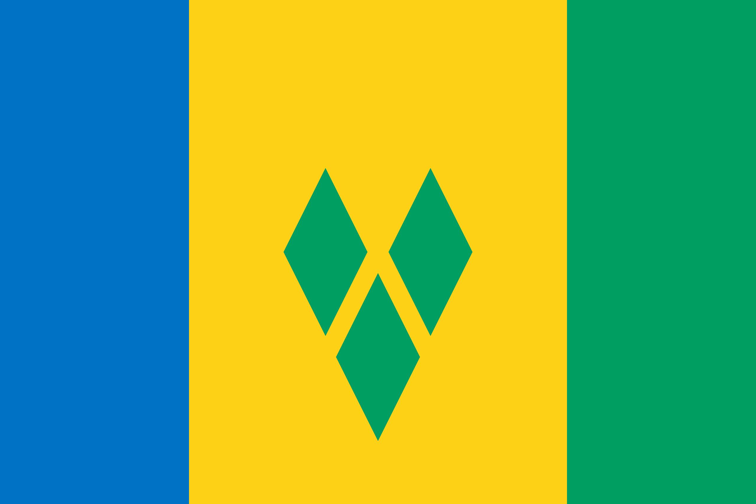 St. Vincent et les Grenadines, pays, emblème, logo, symbole - Fonds d'écran HD - Professor-falken.com