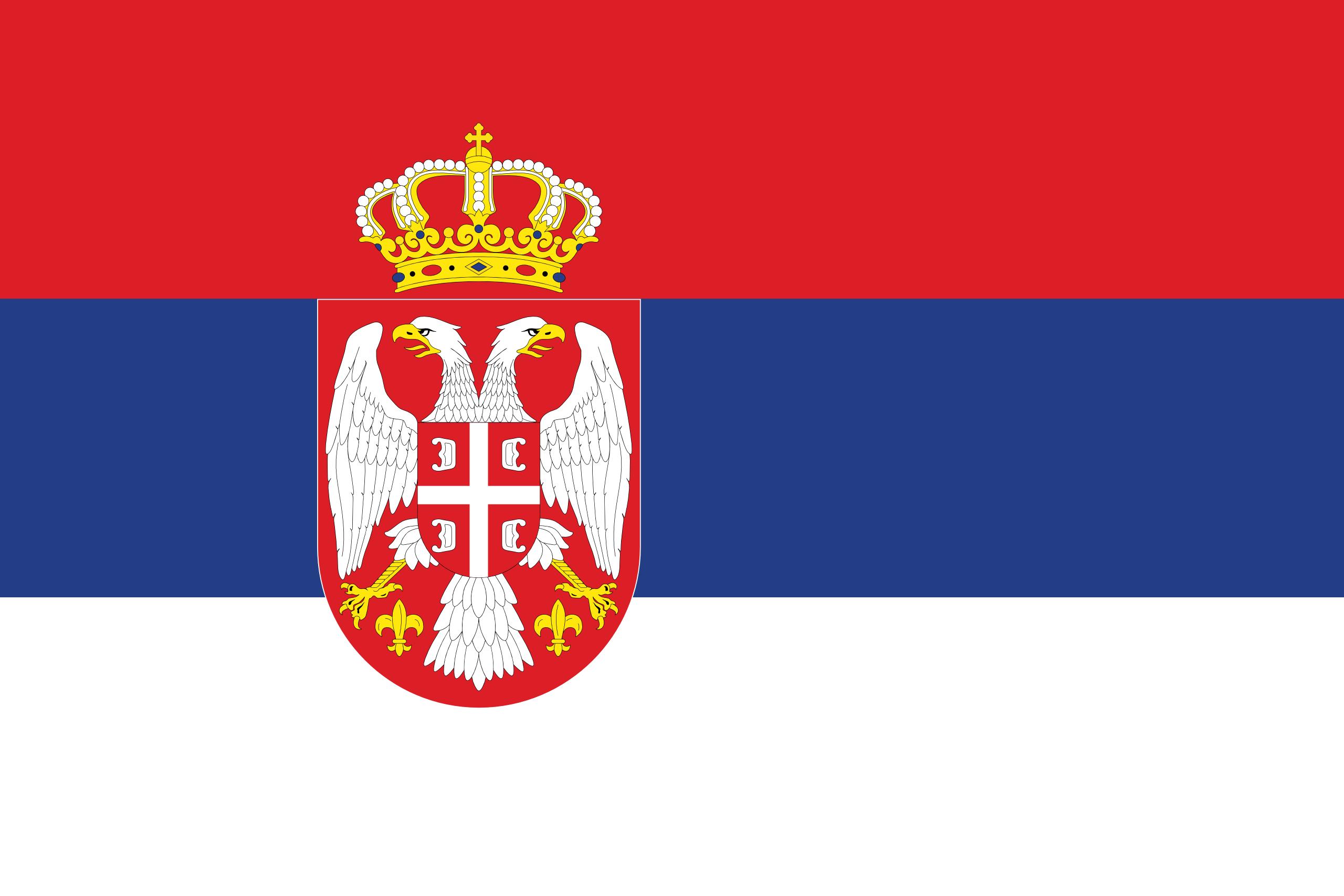 Serbie, pays, emblème, logo, symbole - Fonds d'écran HD - Professor-falken.com