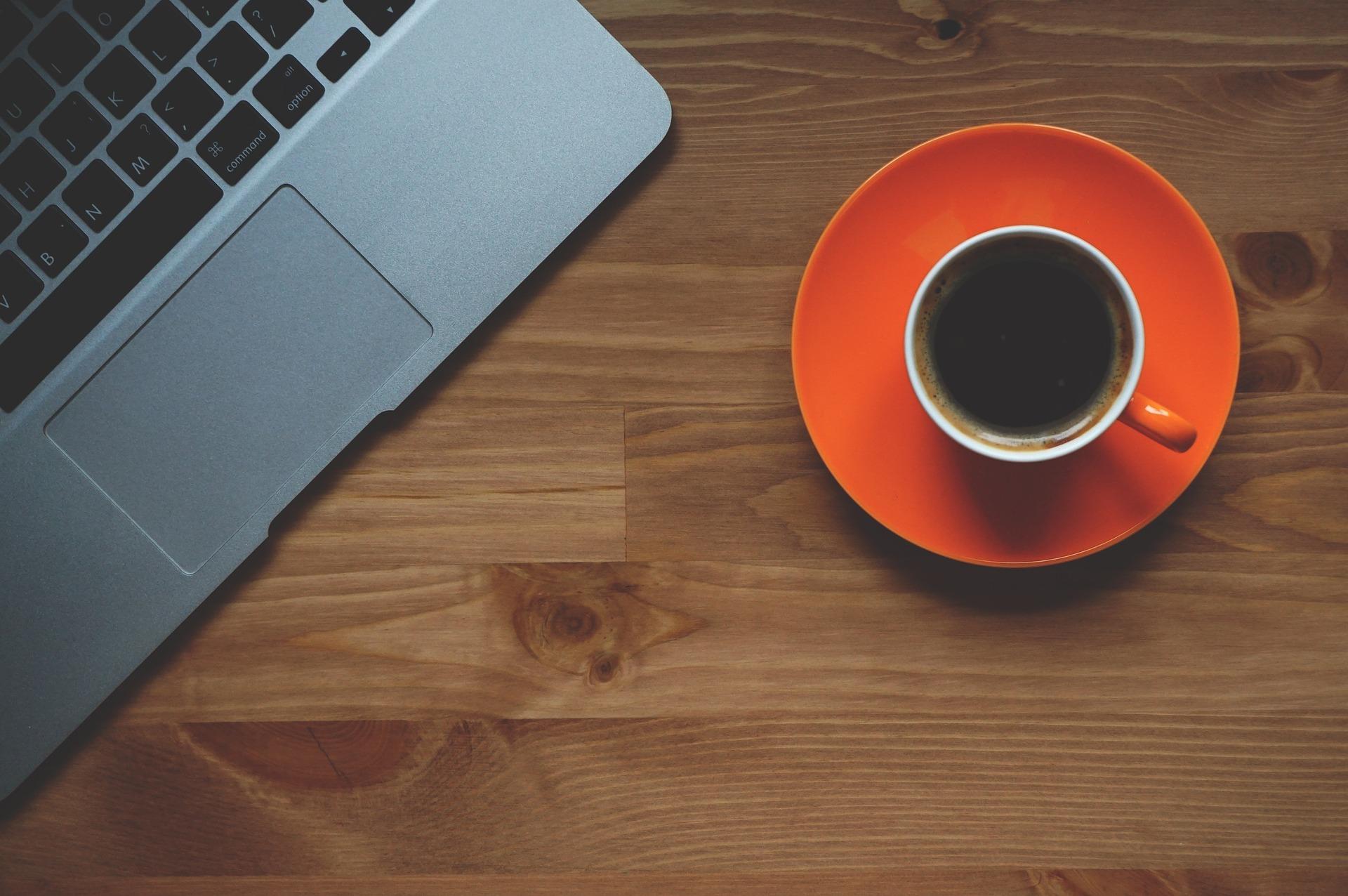 taza de cafe, ordenador, portatil, macbook, oficina, cafe - Fondos de Pantalla - professor-falken.com