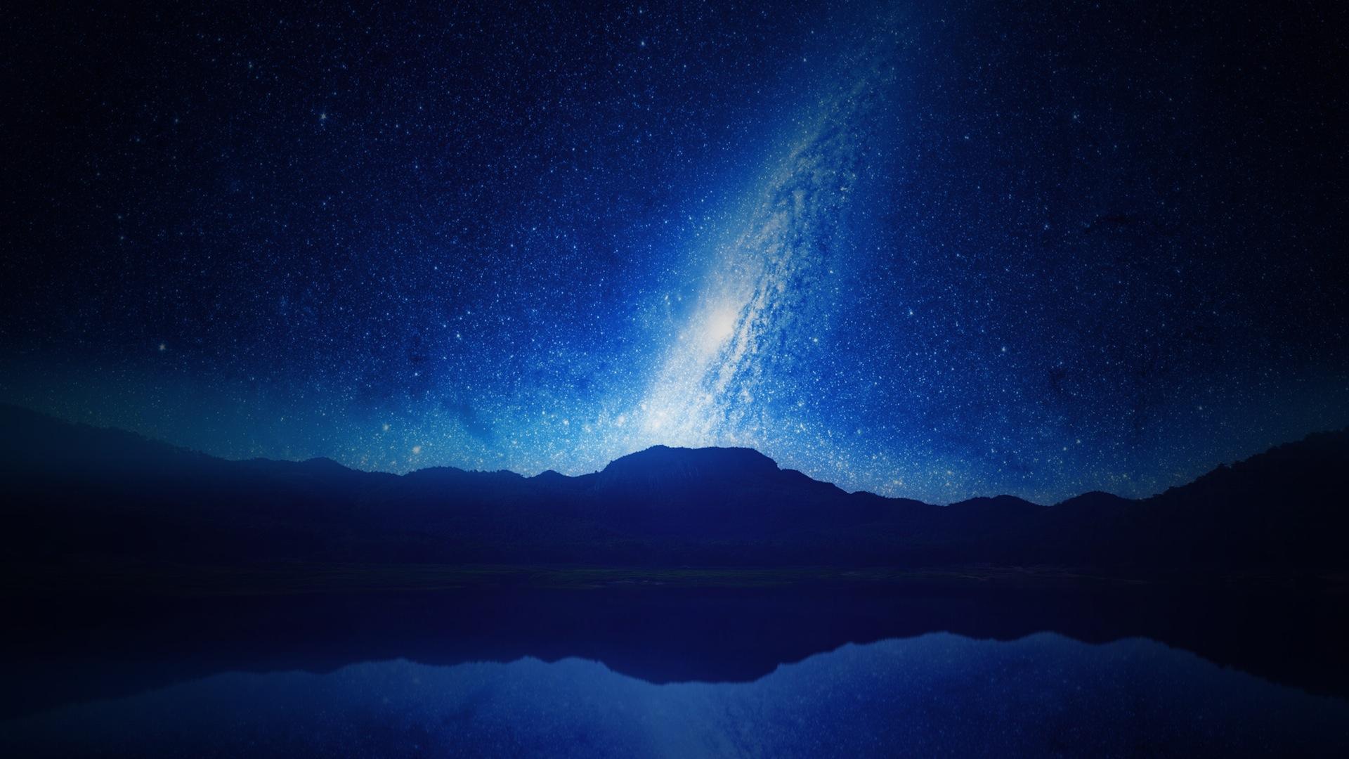 Небо, ночь, Звезда, горы, небосвод, Галактика, Млечный путь - Обои HD - Профессор falken.com
