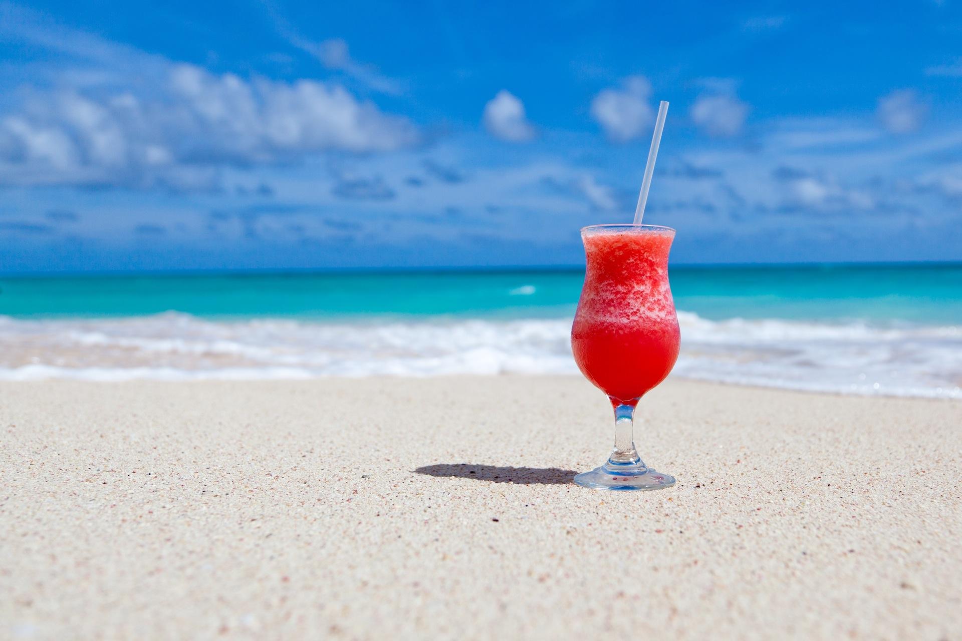 coquetel, Praia, bebida, areia, Mar - Papéis de parede HD - Professor-falken.com