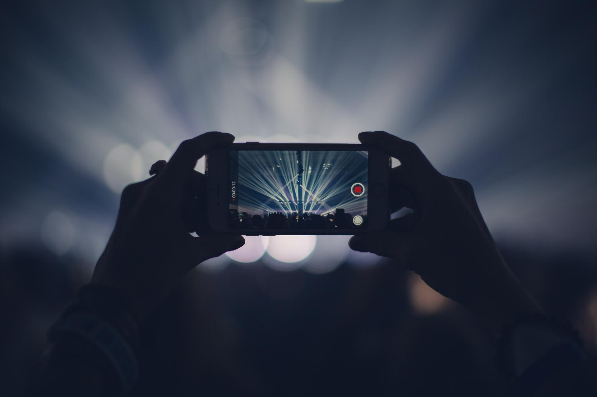 concerto, partito, Mobile, luci, ricordi, video, registrazione - Sfondi HD - Professor-falken.com