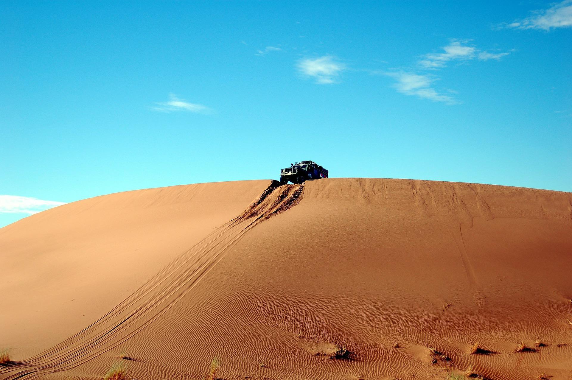 пустыня, Дюна, Автомобили, песок, Небо, риск, Синий - Обои HD - Профессор falken.com