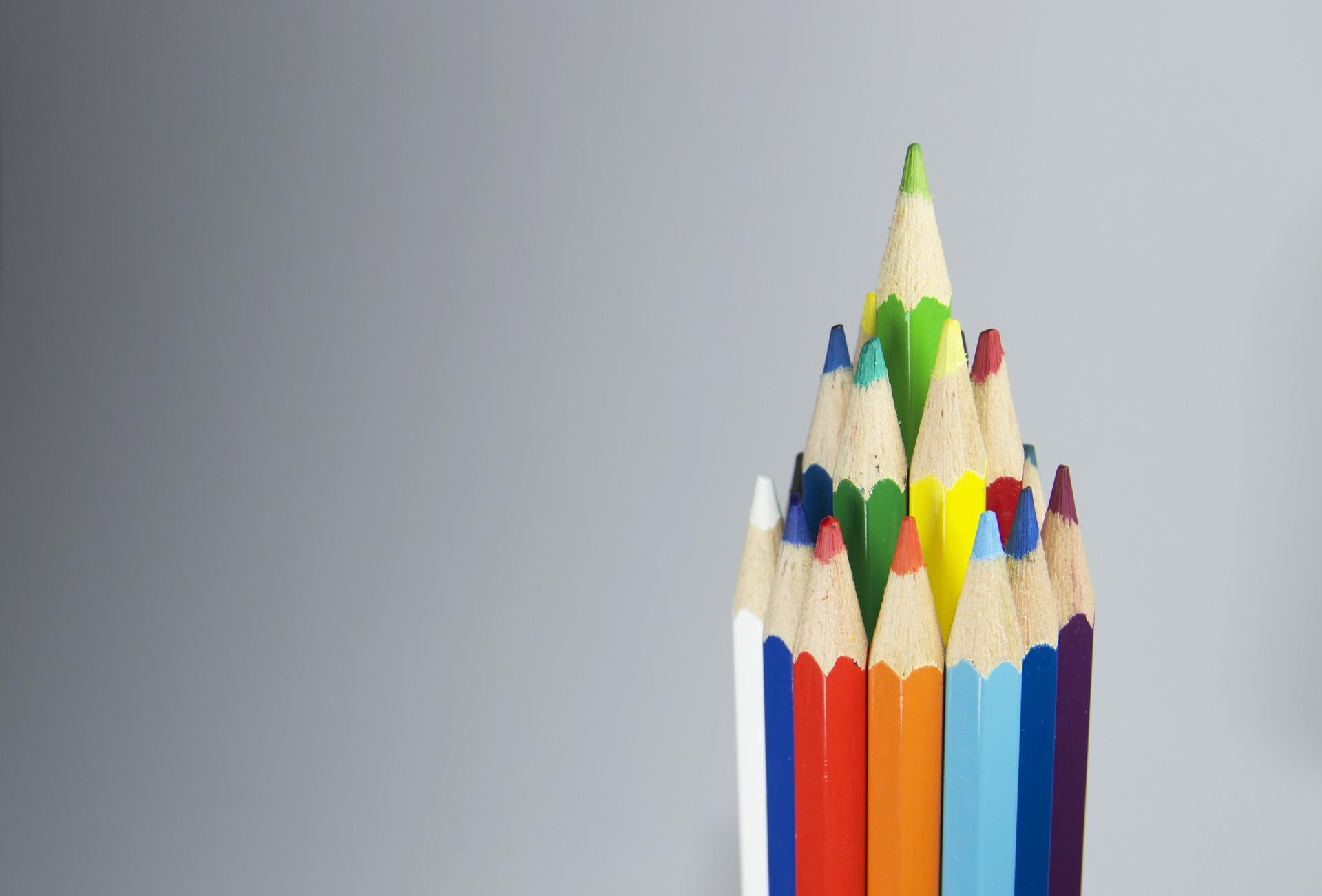 карандаши, Вуд, цвета, Пирамида, параболических - Обои HD - Профессор falken.com