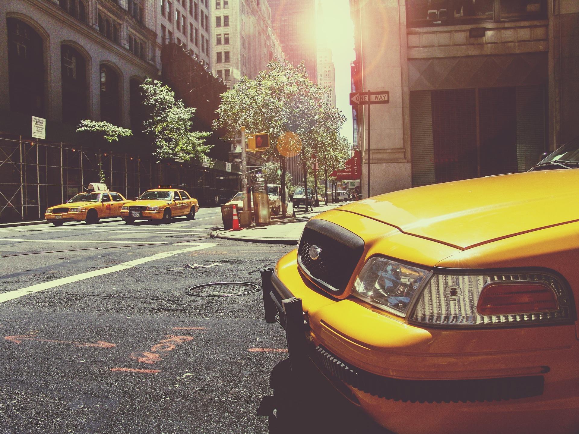 taxi, New york, voiture, Rue, Ville, Jaune - Fonds d'écran HD - Professor-falken.com