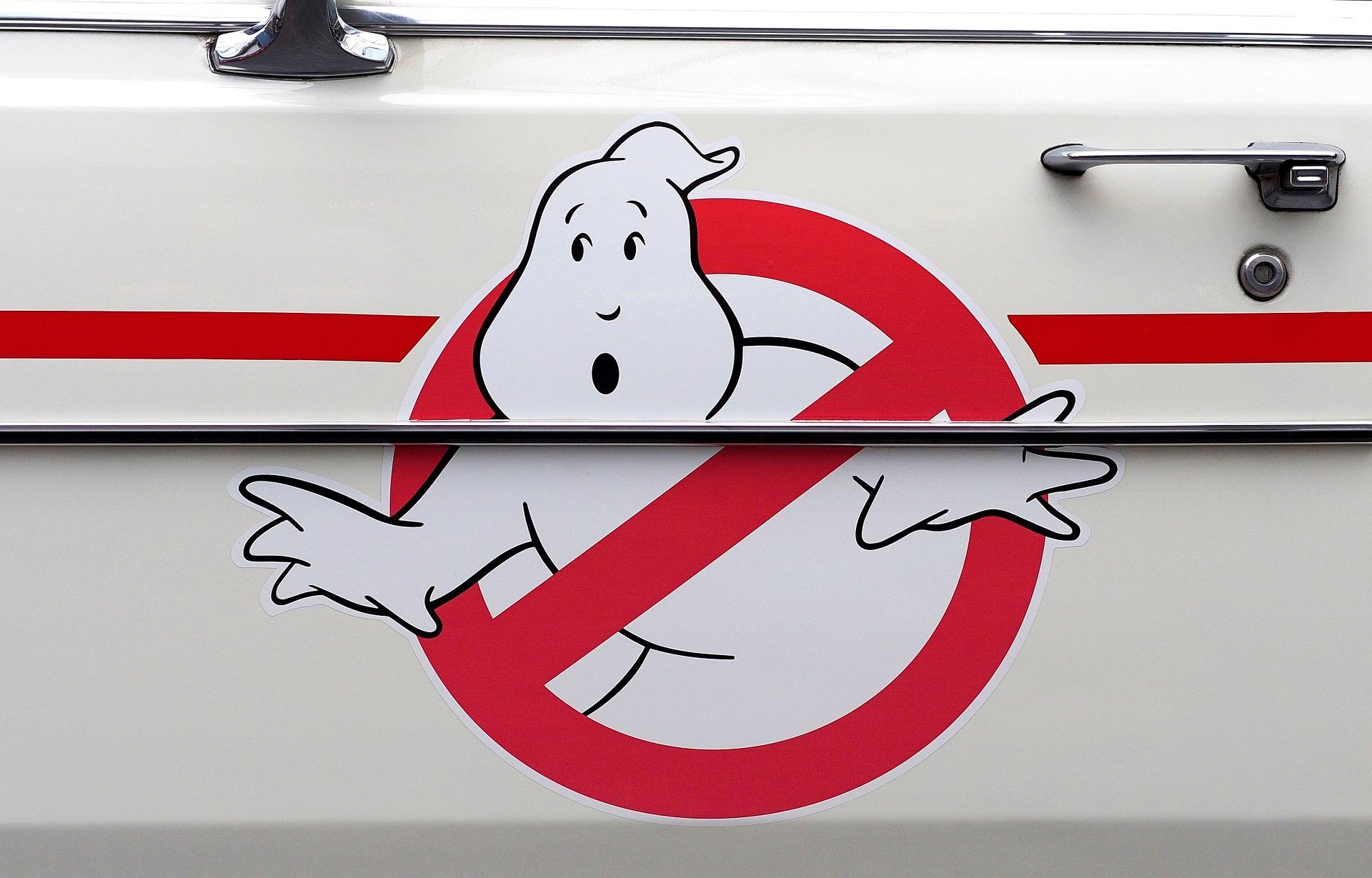 Охотники за привидениями, логотип, автомобиль, Кадиллак, Ностальгия - Обои HD - Профессор falken.com