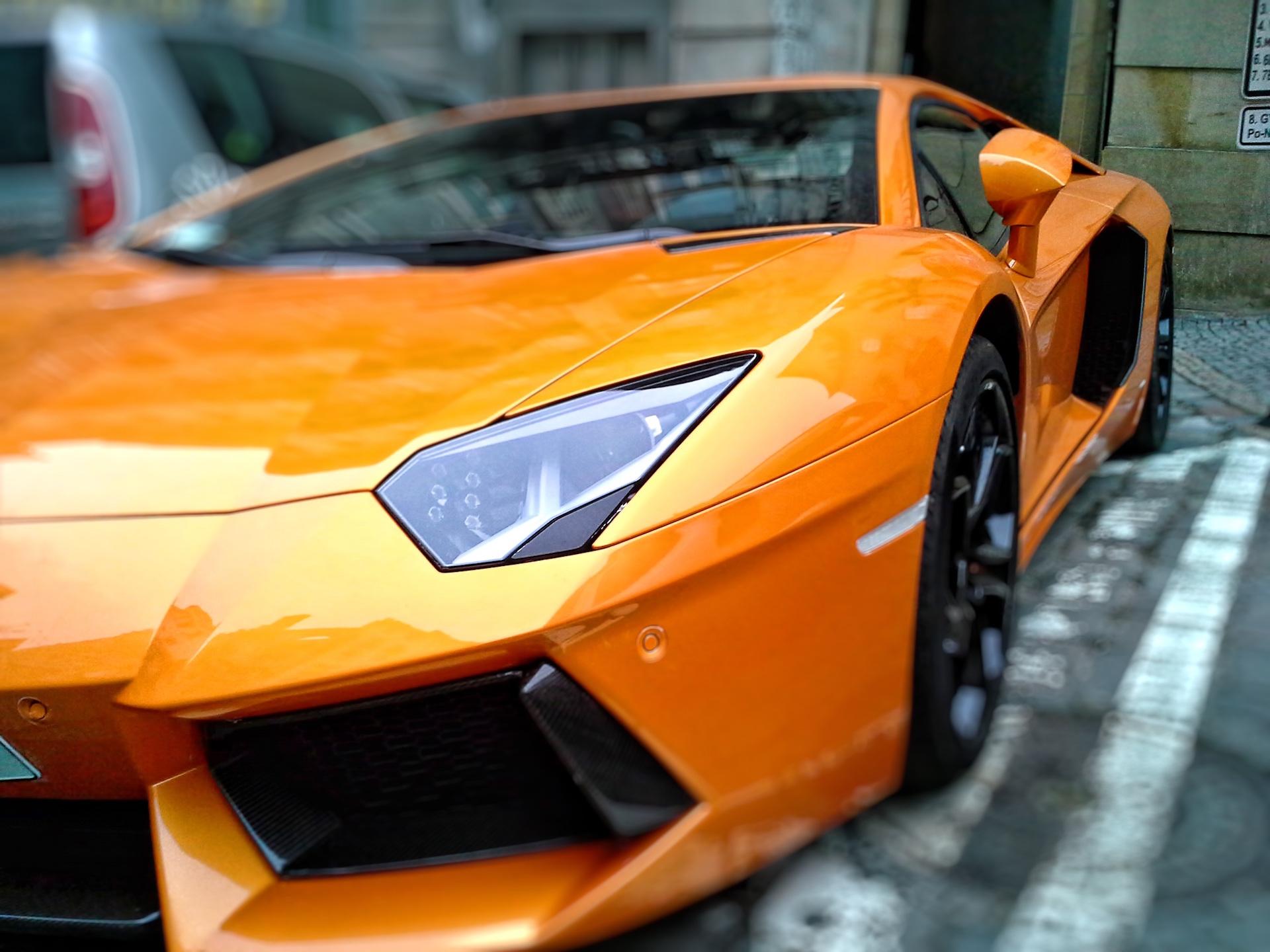 автомобиль, Lamborghini, роскошь, виды спорта, Оранжевый - Обои HD - Профессор falken.com