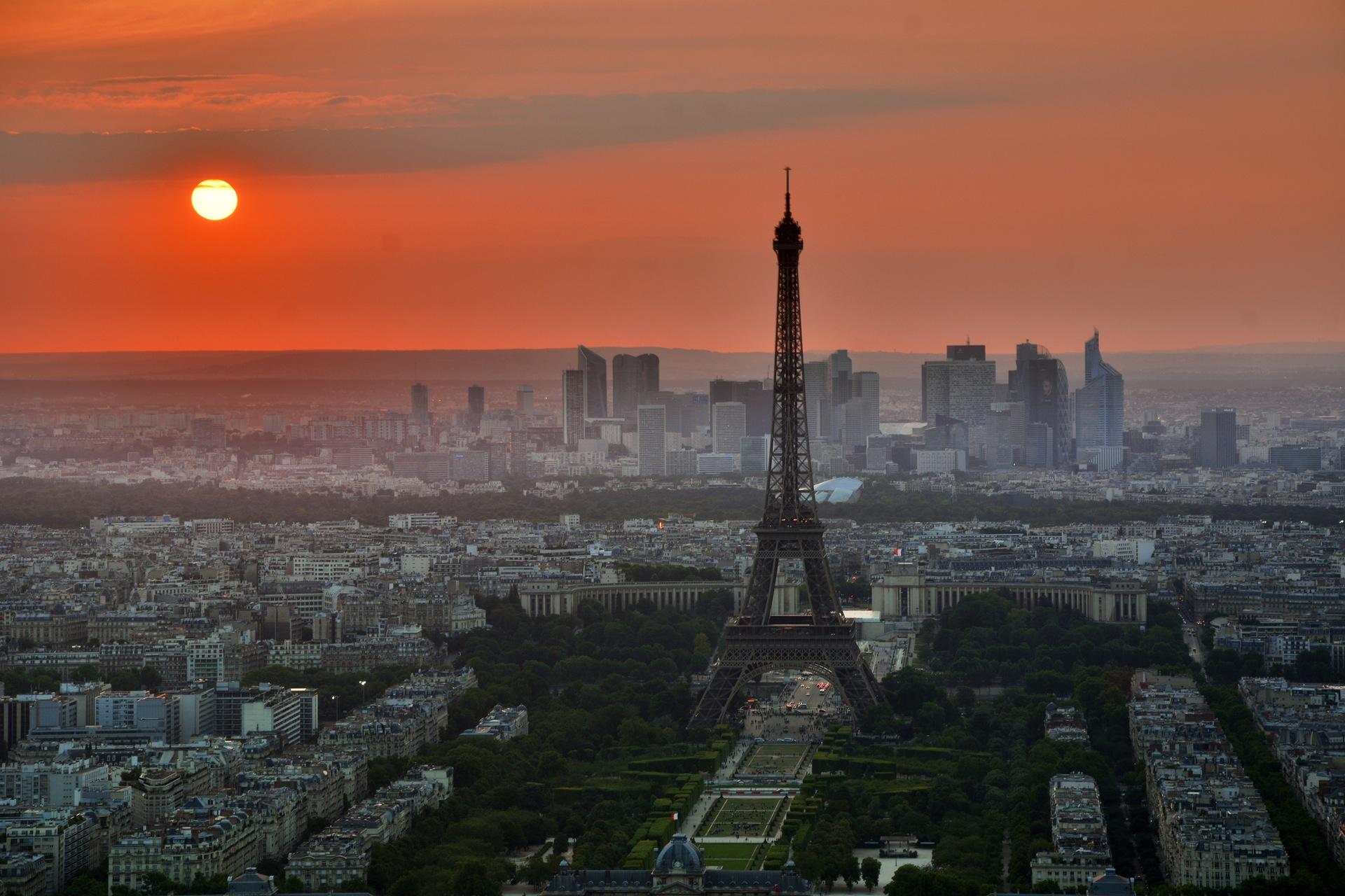 Paris, Tour Eiffel, Sun, Ville, France - Fonds d'écran HD - Professor-falken.com