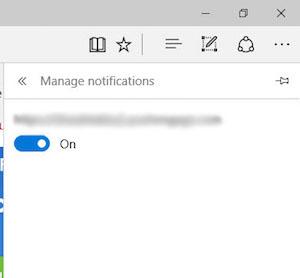 Come disattivare il browser web Microsoft Edge sulle notifiche di Windows 10 - Immagine 4 - Professor-falken.com