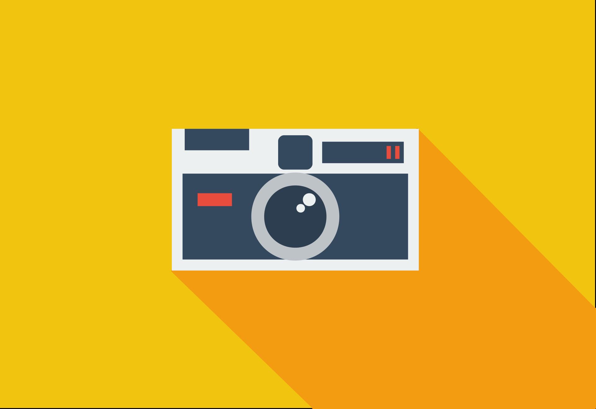 カメラ, 写真, flat design, フラットなデザイン, 黄色 - HD の壁紙 - 教授-falken.com