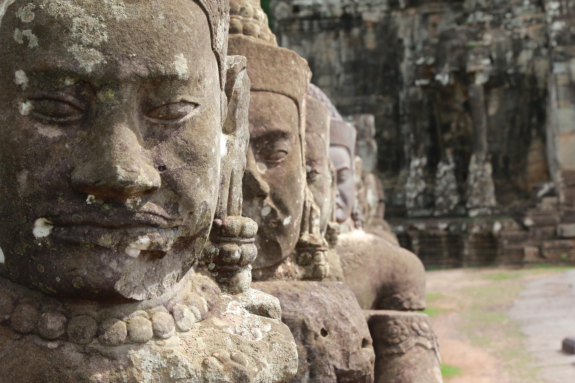 Camboja, Angkor, escultura, Templo de, Ásia - Papéis de parede HD - Professor-falken.com