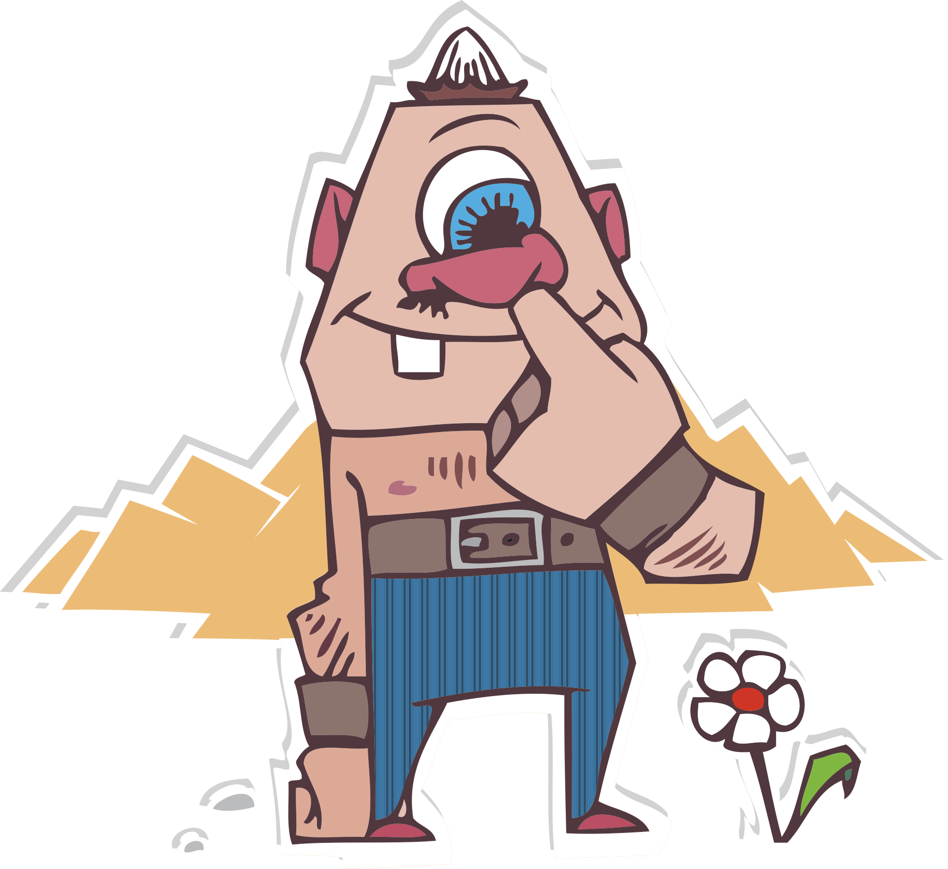 Монстр, развлечения, палец, нос, цветок - Обои HD - Профессор falken.com