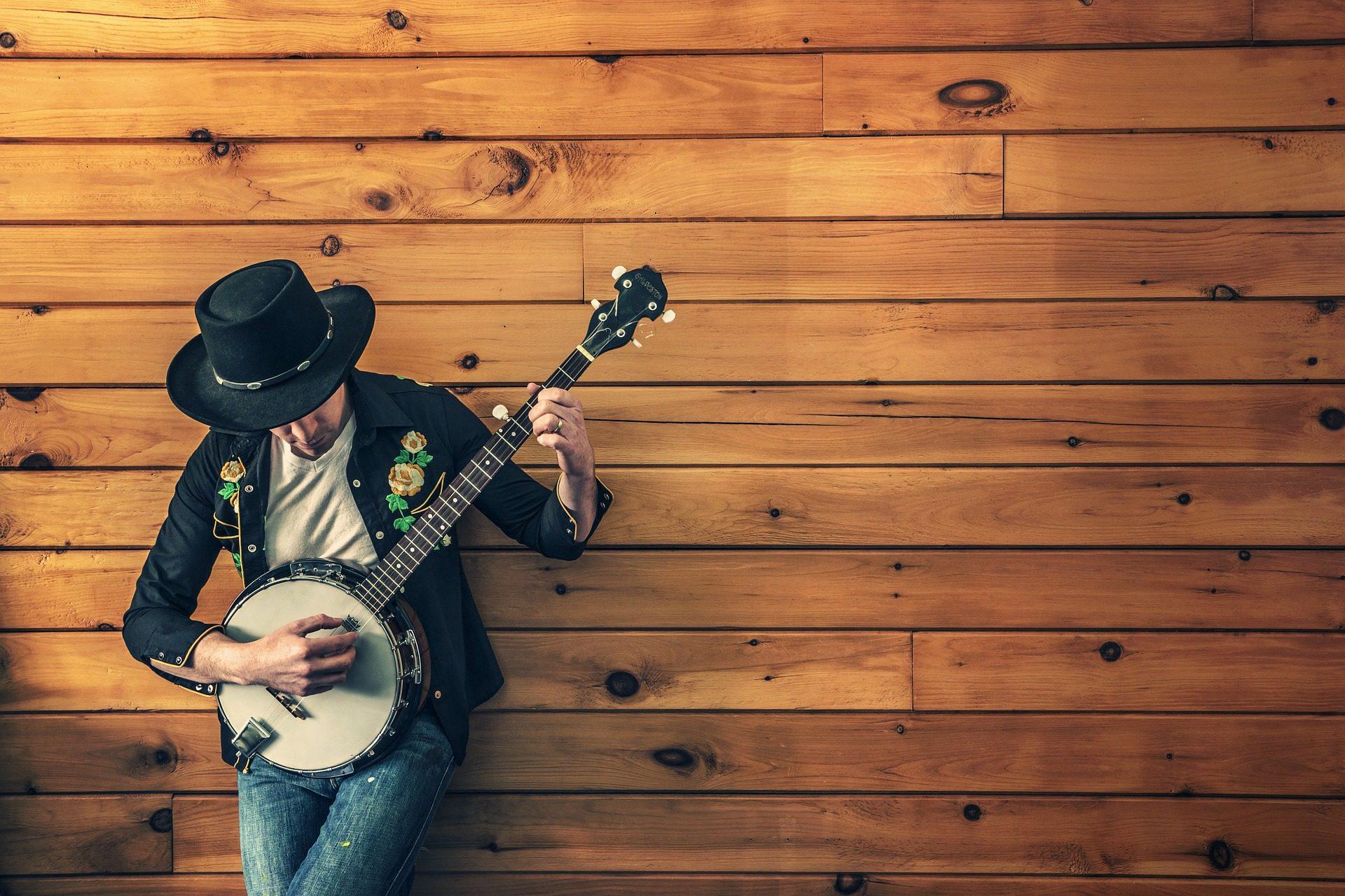 μουσικός, banjo, Κιθάρα, Καπέλο, country - Wallpapers HD - Professor-falken.com