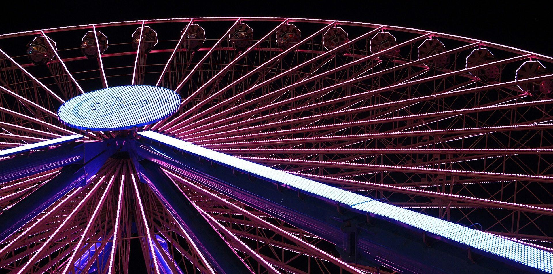 Grande roue, juste, attraction, amusement, coloré - Fonds d'écran HD - Professor-falken.com