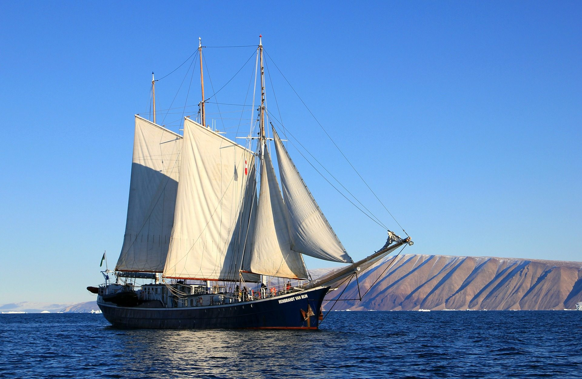 velero, 小船, navío, 海洋, 海 - 高清壁纸 - 教授-falken.com