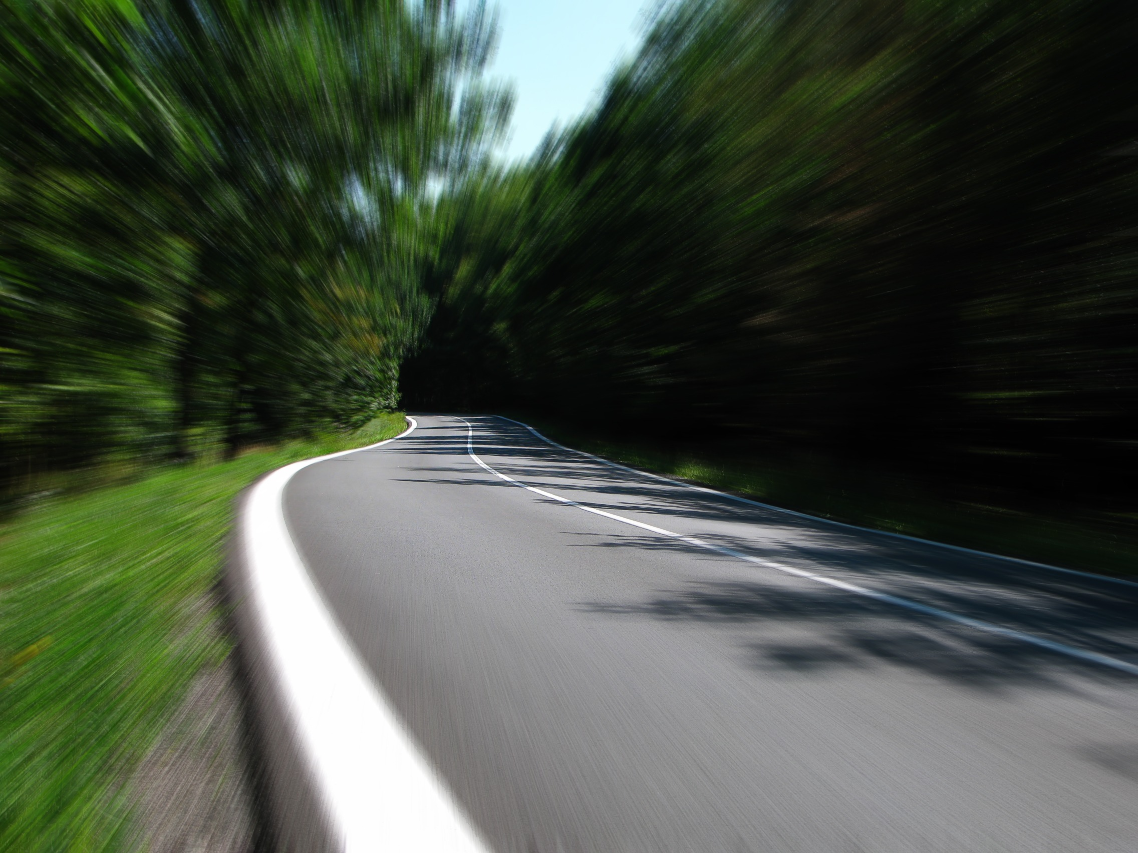 скорость, Дорога, Кривая, поле, движение - Обои HD - Профессор falken.com