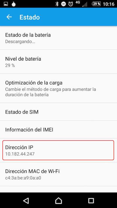 如何知道地址或正在使用您的设备 Android 的地址 IP - 图像 3 - 教授-falken.com