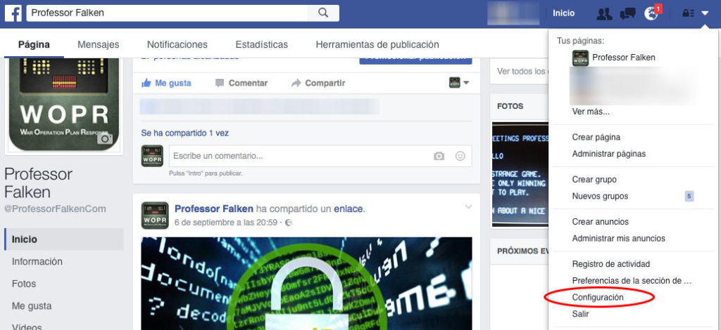 如何下载您已共享在 facebook 上的所有信息的副本 - 图像 1 - 教授-falken.com