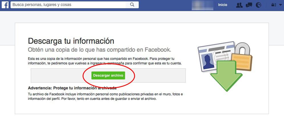 如何下载您已共享在 facebook 上的所有信息的副本 - 图像 7 - 教授-falken.com